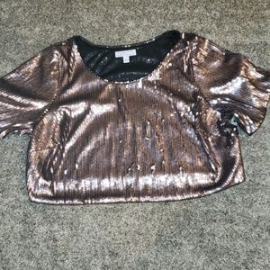 Ashley Nell Tiptin Sequin Crop Top
